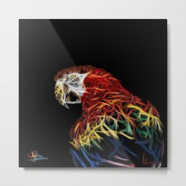 Parrot abstracto Metal Print