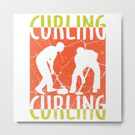 curling curling winter sports gift idea Metal Print