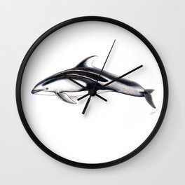 Pacific white-sided dolphin Wall Clock