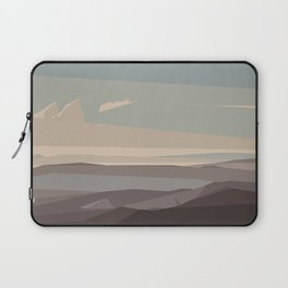 brown blue and dark brown abstract background Laptop Sleeve