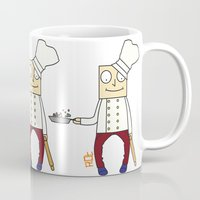 chef Mugs featuring THE CHEF!! by Riot Clothing