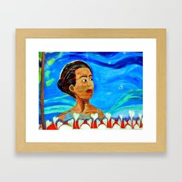 dreaming = intelliegence Framed Art Print