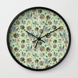 Sloths Wall Clock