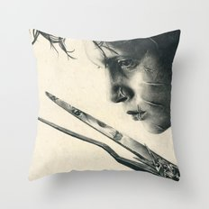 Edward Scissorhands ~ Johnny Depp Traditional Portrait Print Throw Pillow