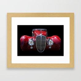 Delahaye Red Framed Art Print