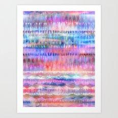 Ikat #8h Art Print