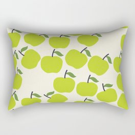 Green Apple Pattern Rectangular Pillow