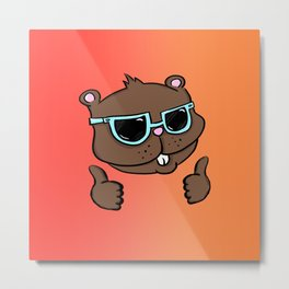 Thumbs Up Gopher Metal Print
