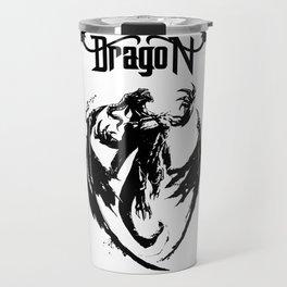 Black Dragon Rising Travel Mug