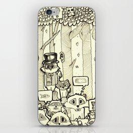 raccoon doodles iPhone Skin