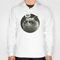 grumpy Hoodies featuring No! by Dr. Lukas Brezak