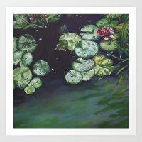 Water meditation I Art Print