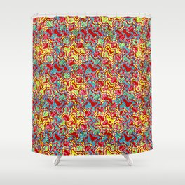 Polyp Red - Coral Reef Series 016 Shower Curtain