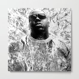 RIP BIGGIE (BLACK & WHITE VERSION) Metal Print