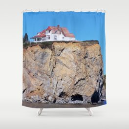 Living at the End of the World Shower Curtain