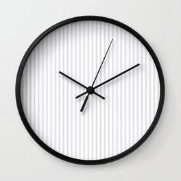 Soft Grey Mattress Ticking Narrow Striped Pattern - Fall Fashion 2018 Wall Clock