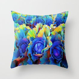 Yuma Cabbages Throw Pillow