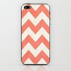 Vintage Coral Chevron iPhone & iPod Skin
