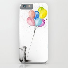 The French Bulldog and The Balloons iPhone Case