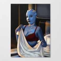 Mass Effect - Red Lingerie Canvas Print