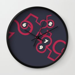 5, 6, 7, 8, 9 Wall Clock