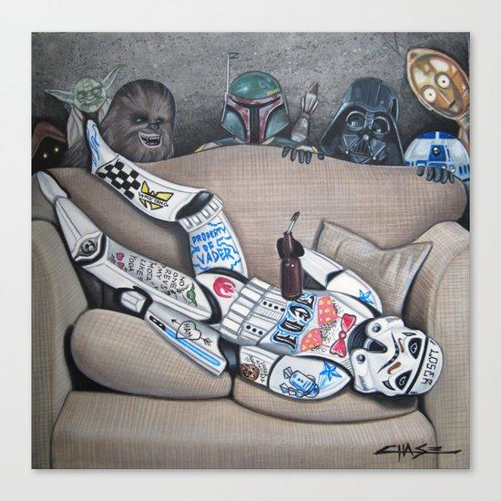 Dorm Trooper Canvas Print