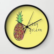 stay golden Wall Clock