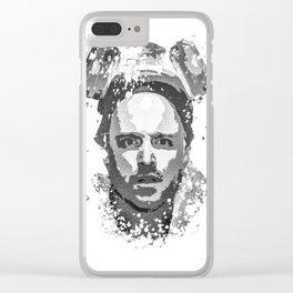 Breaking Bad, Jesse Pinkman splatter painting Clear iPhone Case