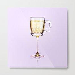 Morning Champagne Metal Print