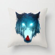 Big Bad Wolf (light version) Throw Pillow