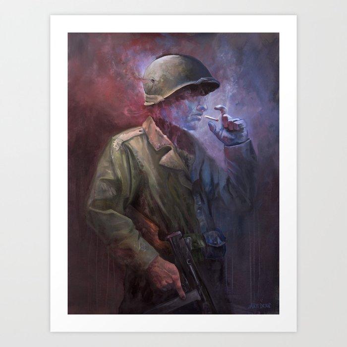 The Last Smoke Art Print