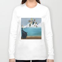 baloon Long Sleeve T-shirts featuring Butterfly Baloon by ArtSchool