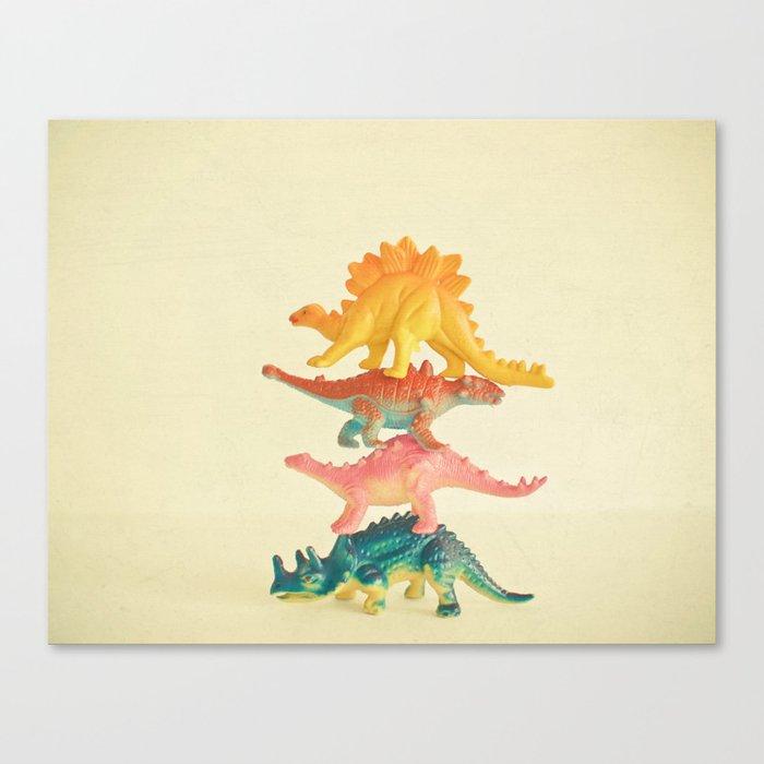 Dinosaur Antics Leinwanddruck