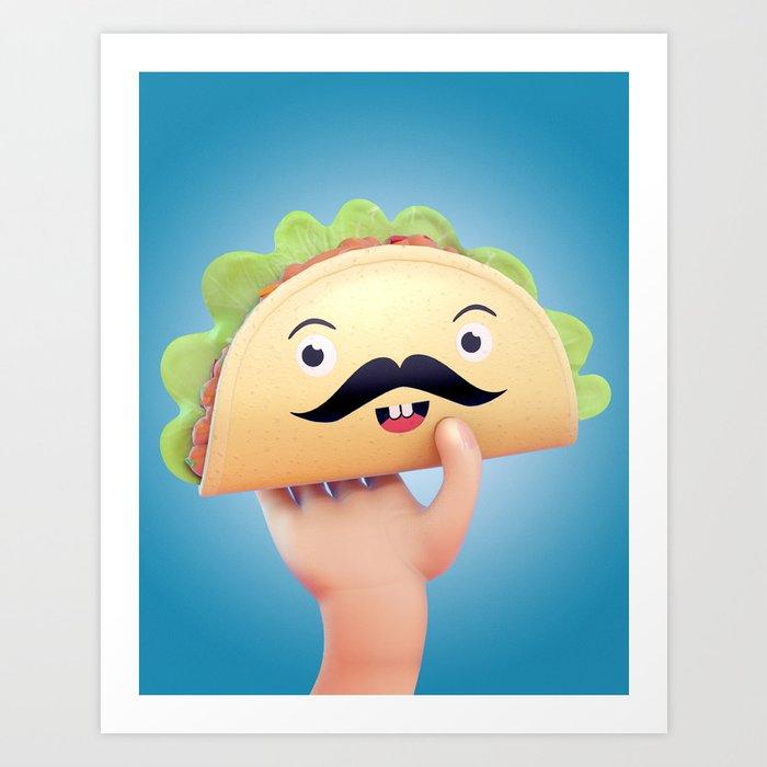 Super Taco! Art Print