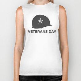 Veterans Day Commemorative Soldier Helmet Star Biker Tank