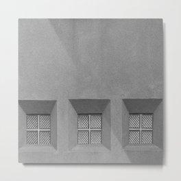 Three Little Windows Metal Print