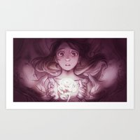 beauty and the beast Art Prints featuring Beauty / Beast by Nilah Magruder