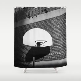 Los Angeles Basketball Shower Curtain