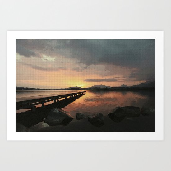 abendstimmung coastal evening Art Print