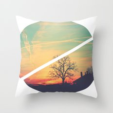 Colored Sky Throw Pillow