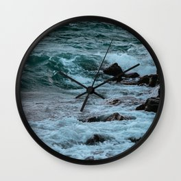 Kissing the Shore Wall Clock