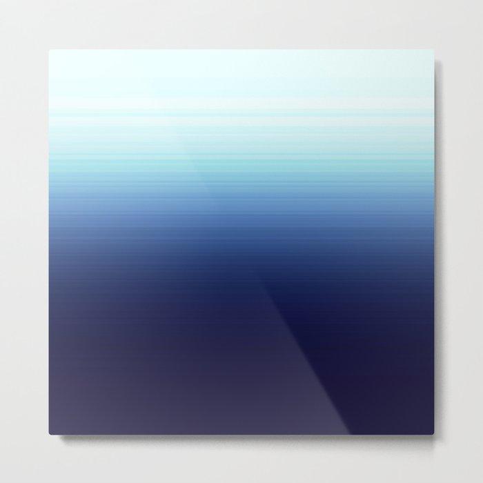 Nautical Blue Ombre Metal Print