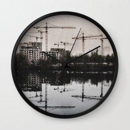 Industrial (retro postcard) Wall Clock