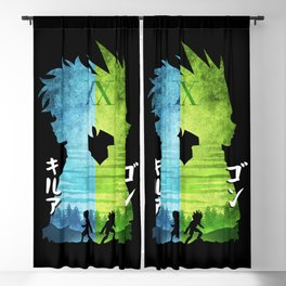 Minimalist Silhouette Gon & Killua Blackout Curtain