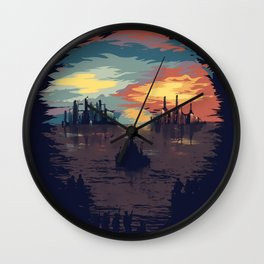 Skull Illusion Wall Clock