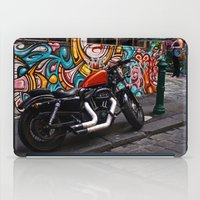 harley iPad Cases featuring Harley by Taylor.Mac