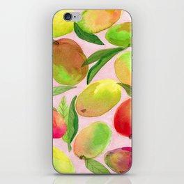 Mango Watercolor Painting iPhone Skin