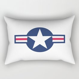 US Airforce style roundel star - High Quality image Rectangular Pillow