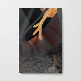 Glinting Fiery Tendrils Metal Print