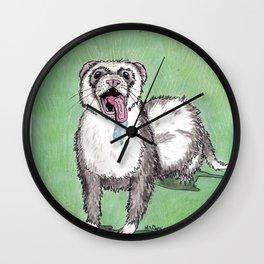 Window Licker-Furry Noodle Wall Clock